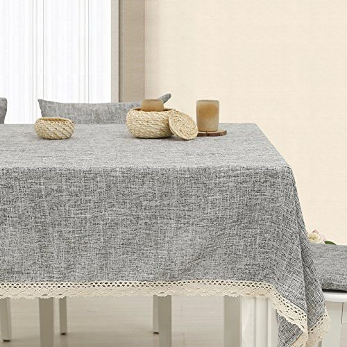 TRE Japanese Style Garden Linen Plain Tablecloth/ Table Cloth/  Solid Colored Table
