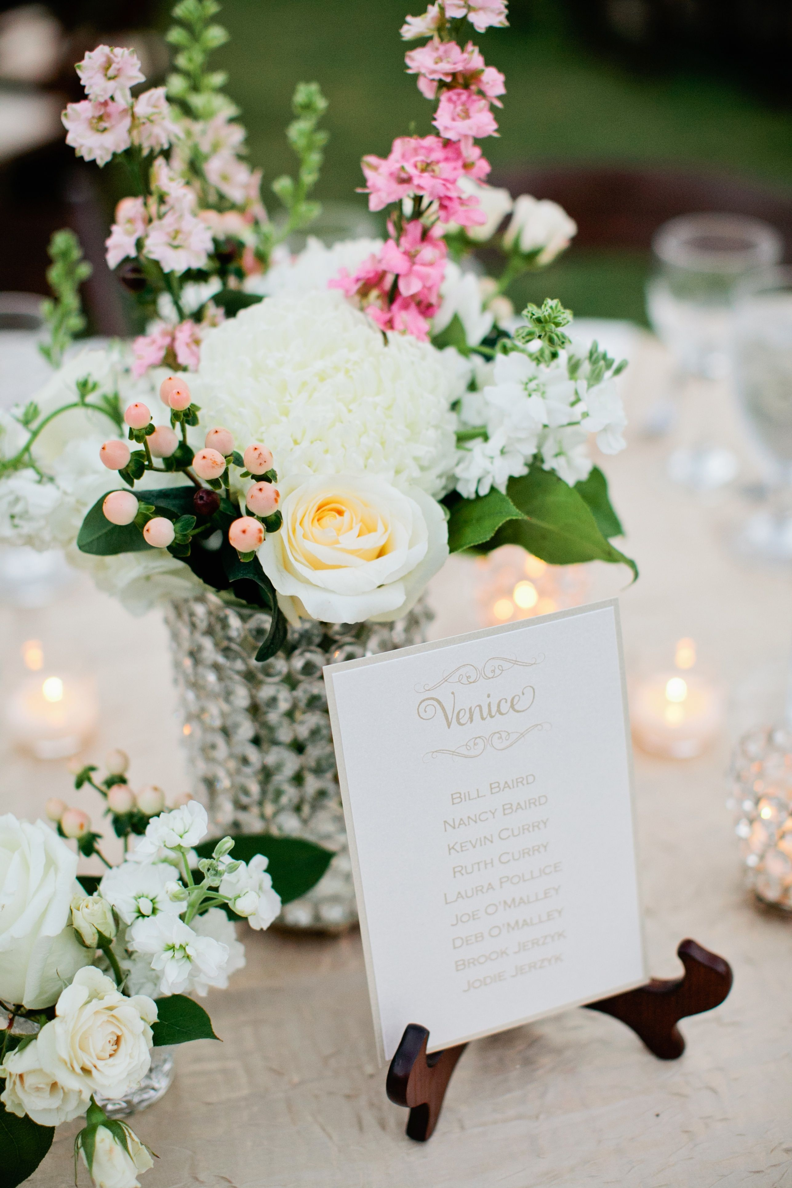 Garden wedding decoration ideas  Romantic vintage centerpieces  Kristyn Hogan Photography  Theknot