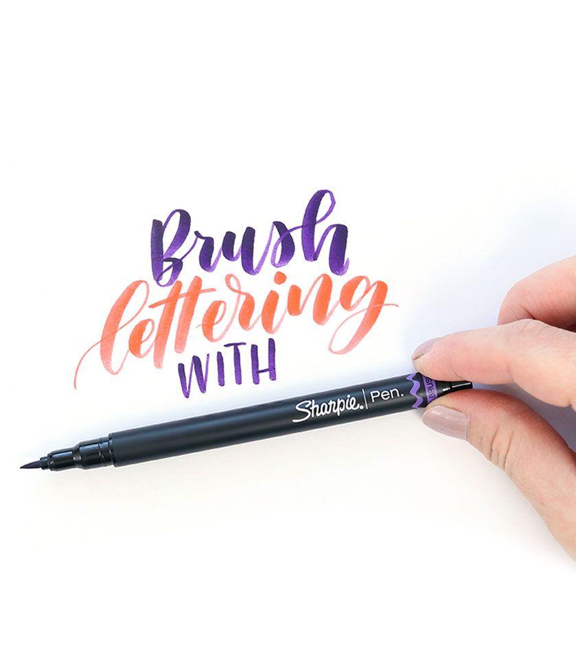 New Sharpie Brush Pen For Lettering Review Brush Pen Brush