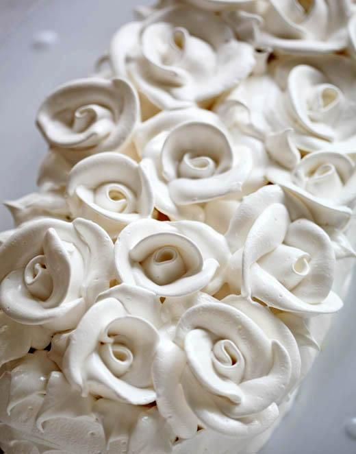 Lemon Meringue Mother's Day Cake – (how-to video: piping meringue roses)