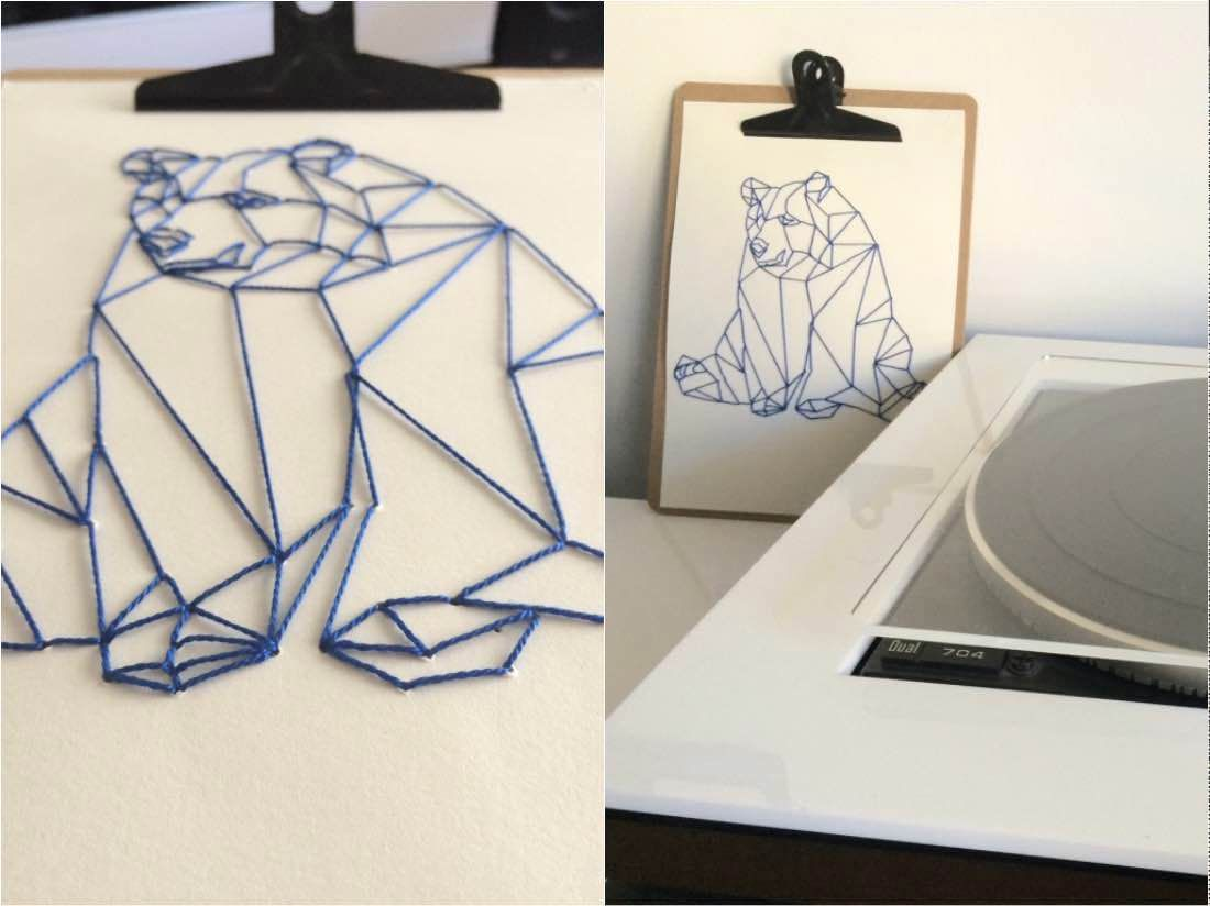 Diy Geometrische Kunst Wandbilder Und Geburtstagskarten Einfach Selbst Herstellen Fourhang Auf Sticken Anleitung Geometrische Kunst Geburtstagskarte