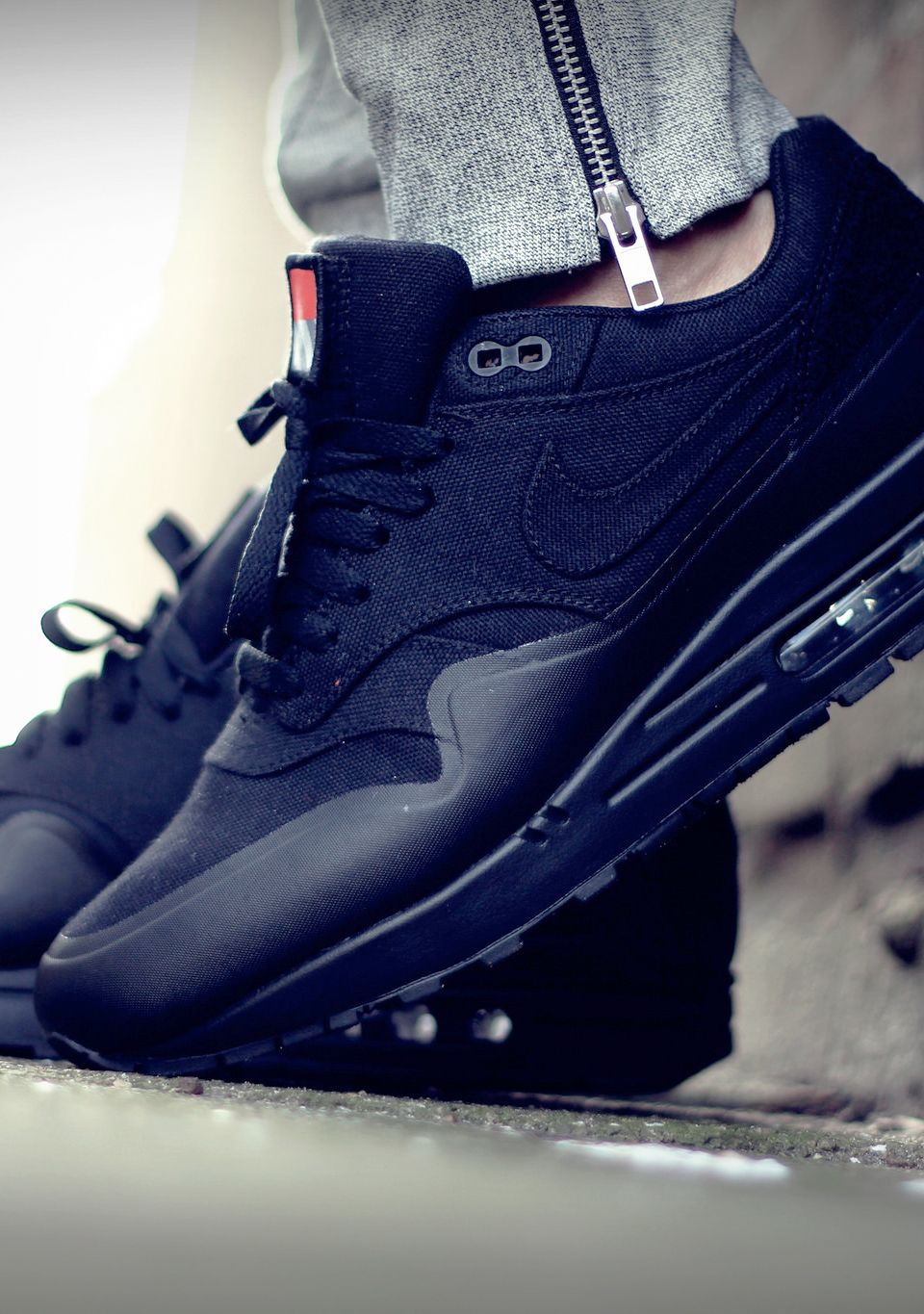 Mens Nike Air Patchs En Cuir Max 1