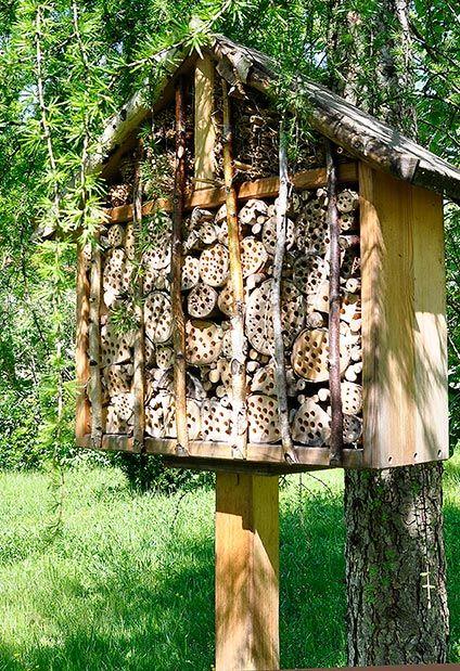 insektenhotels bauen insektenhotels pinterest insekten insektenhotel und garten. Black Bedroom Furniture Sets. Home Design Ideas