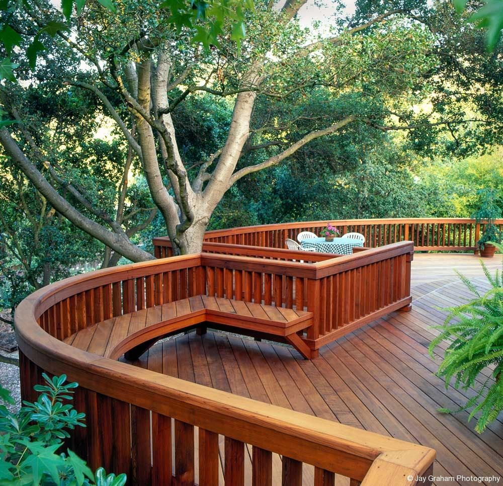 Best 4X6 Beam Railing With 2X4 Balusters And Bench Rocky 400 x 300