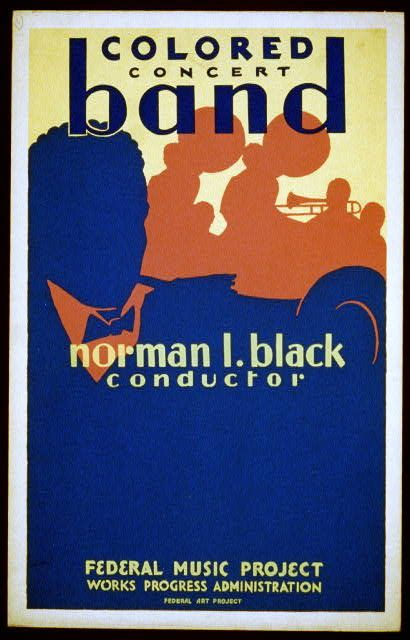 Colored concert band, Norman L. Black, conductor   [Illinois] : Federal Art Project, [1936]