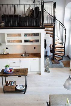 Loft De 67 M2 De Estilo Nordico Industrial Pinterest Loft - Decoracion-de-loft-pequeos