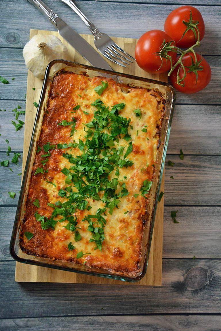 Kartoffelauflauf mit Hackfleisch und Käse #einfachegerichte