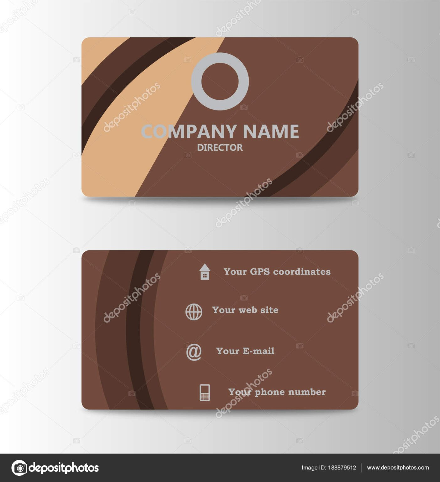 Corporate Id Card Design Template Personal Id Card For Intended For Personal Identification Card Tem In 2020 Free Business Card Templates Corporate Id Design Template