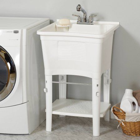 Ergotub Full Featured Freestanding Utility Laundry Tub With Faucet