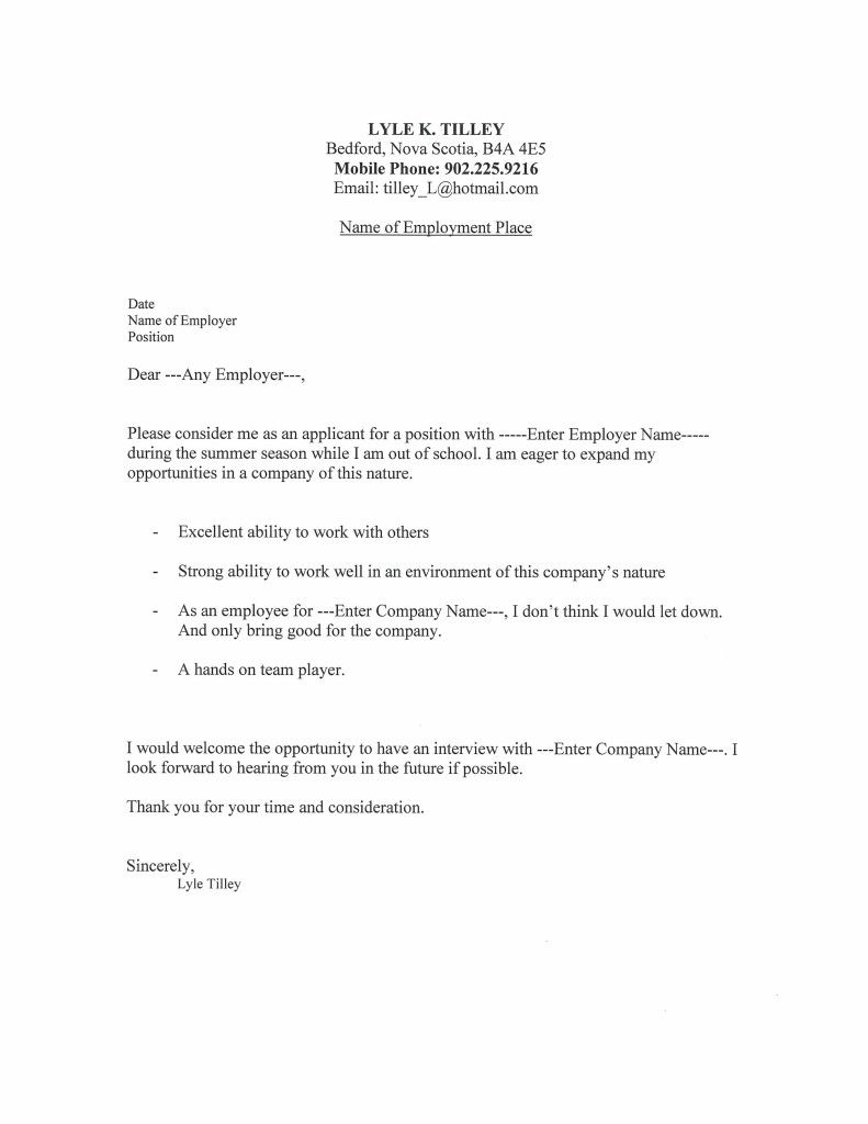 networking cover letters