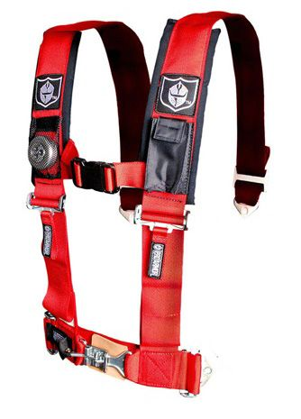 "Pro Armor 4 Point Harness 3/"" Padded Seat Belts BLACK RZR XP Turbo 1000 900 800"