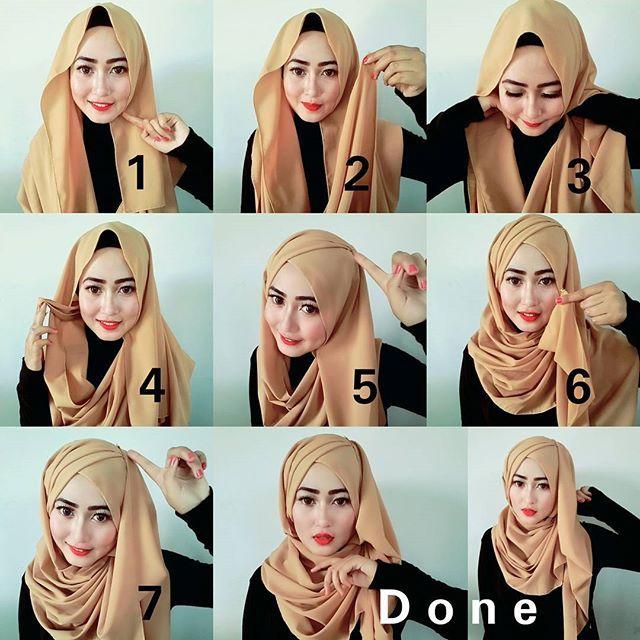 Criss Cross Hijab Tutorial Hijab Fashion Inspiration Hijab Style Tutorial How To Wear Hijab Hijab Fashion Inspiration