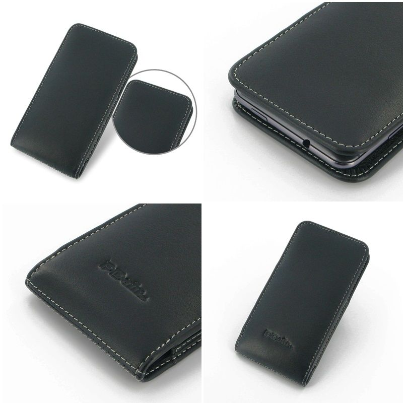 PDair Leather Case for HTC Desire 700 Dual Sim Vertical