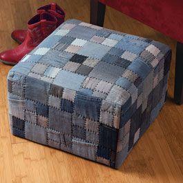 Denim Patches Cube - Acacia