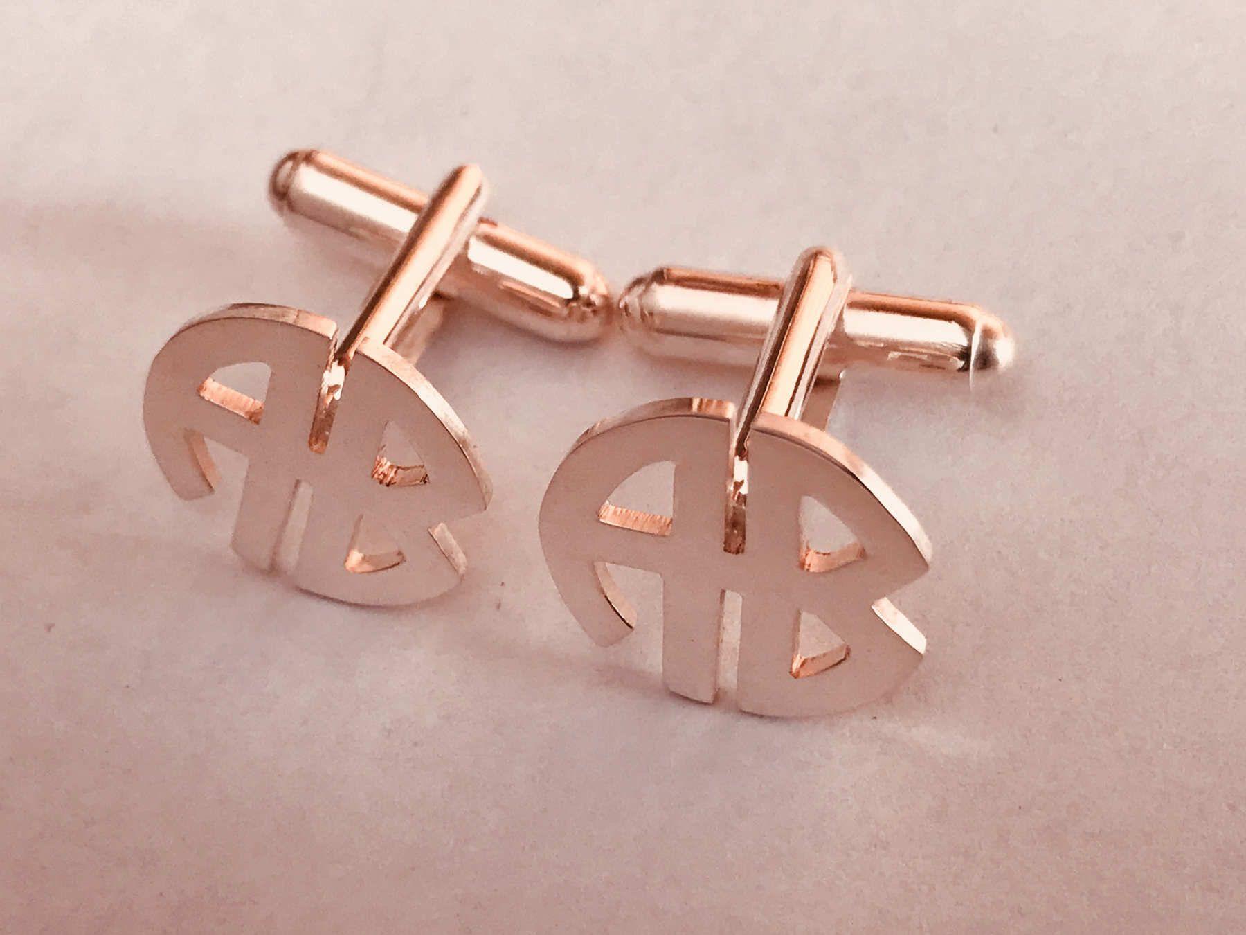 925 silver cufflinks personalized Bespoke Cufflinks for groom Wedding Cufflinks Initials