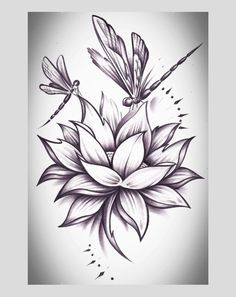 I Would Love To Add Dragonflies Like This To My Lotus Tats Lotus
