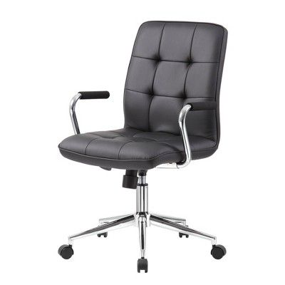 Office Chairs Walmart >> Boss Office Products Modern Office Chair With Chrome Arms