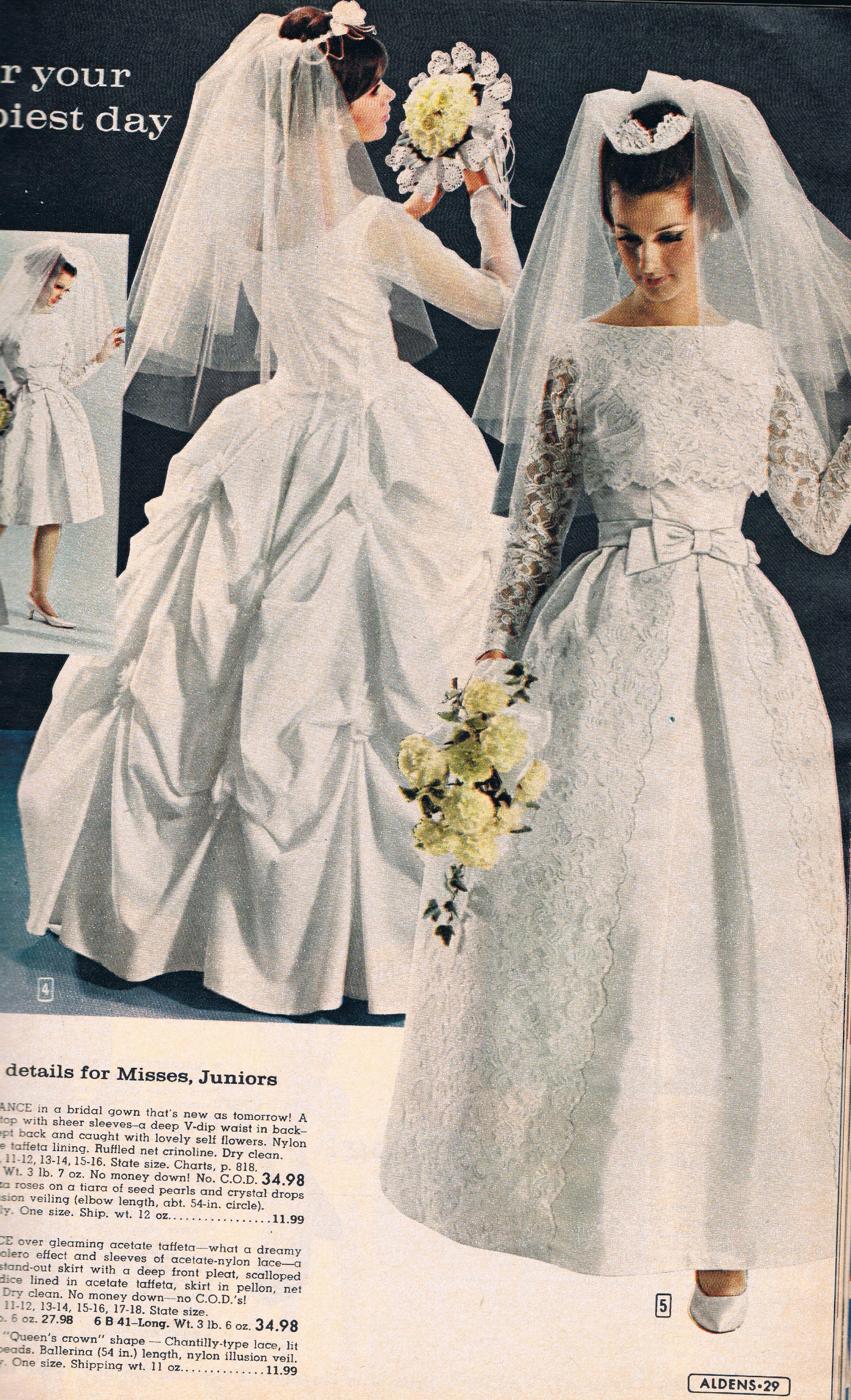 Aldens 1966 Catalog Wedding Gowns Vintage Bridal Gowns Vintage Wedding Dresses Vintage