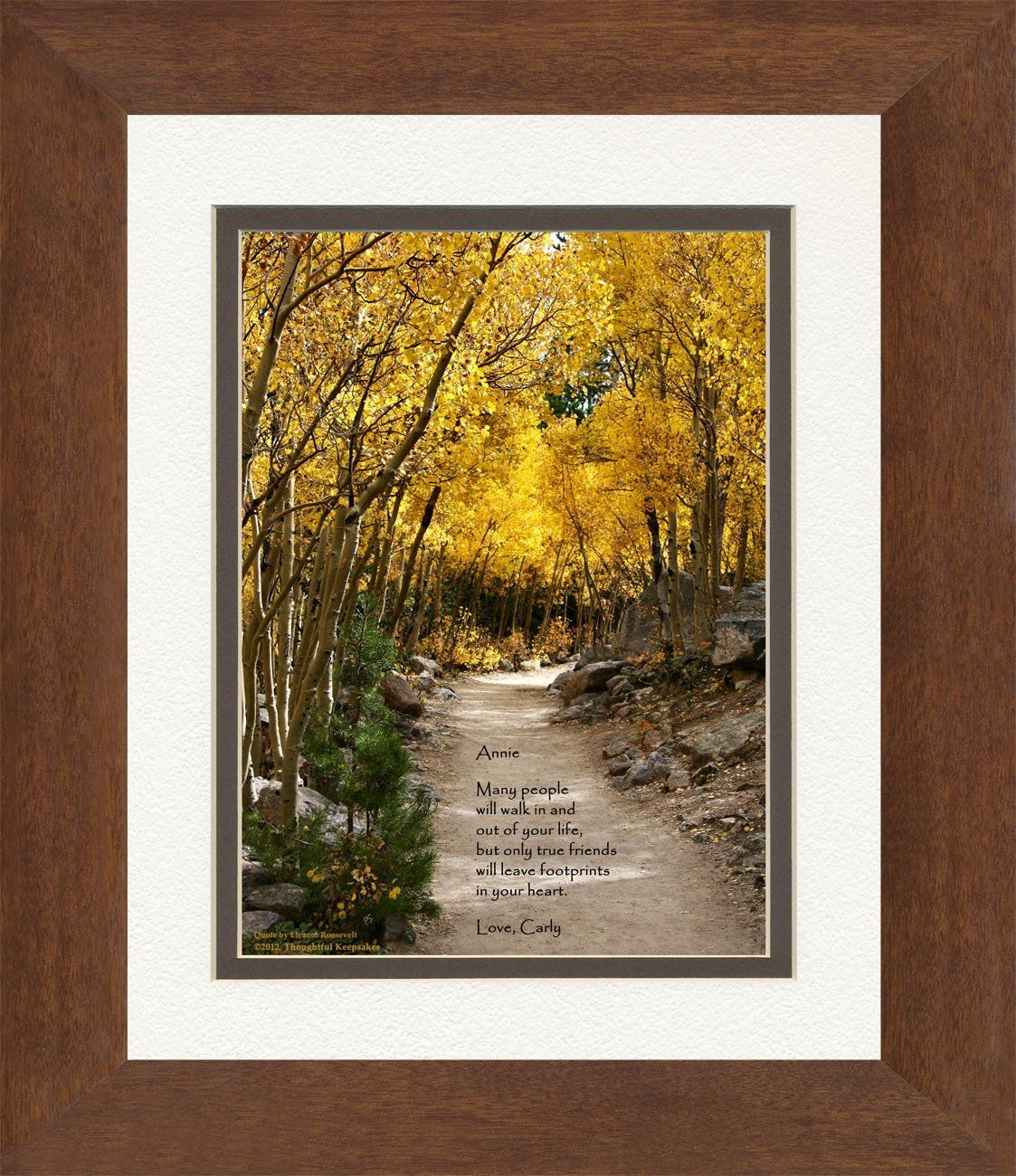 Framed Personalized Friend Gift. Aspen Path Photo with