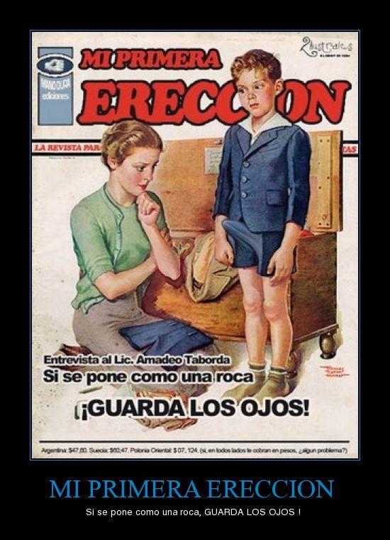 la primera erección