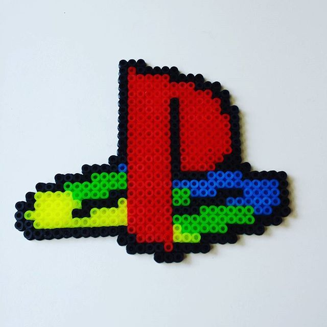 Playstation logo hama beads by retro_games_leipzig | Video