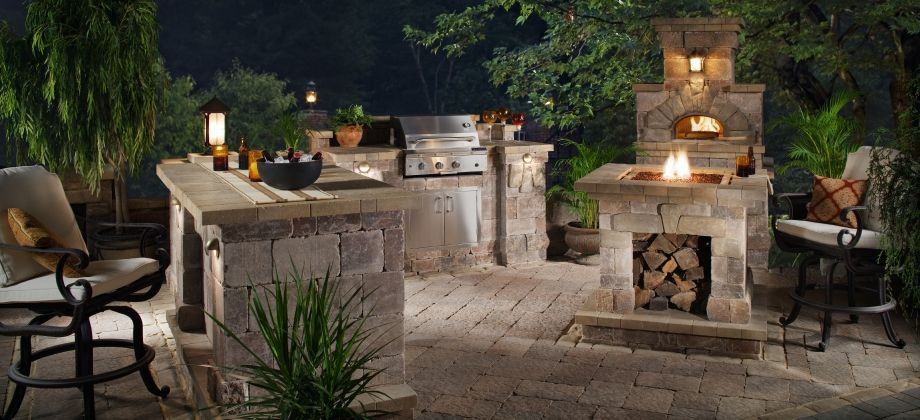 Prefab Bbq Island With Fire Pit And Wood Burning Pizza Oven Outdoor Fireplace Pizza Oven Outdoor Bbq Island