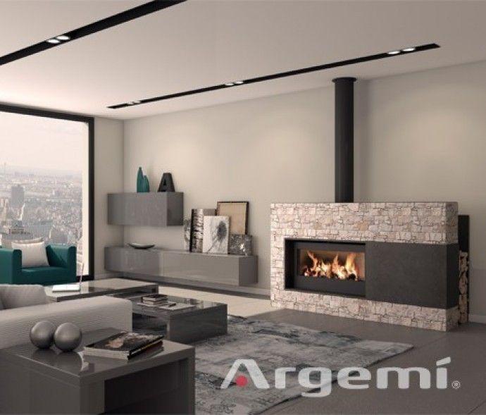 Chimeneas de le a con recuperador de calor chimeneas de dise o pinterest more living rooms - Chimeneas con television ...