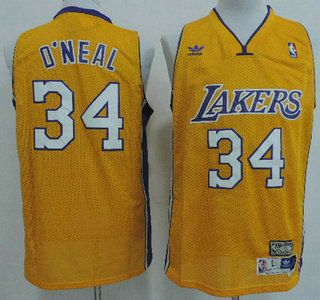 Los Angeles Lakers Jersey 34 Shaquille O'Neal Yellow Throwback Swingman  Jerseys | Pinterest | Los angeles lakers, Los angeles and NBA