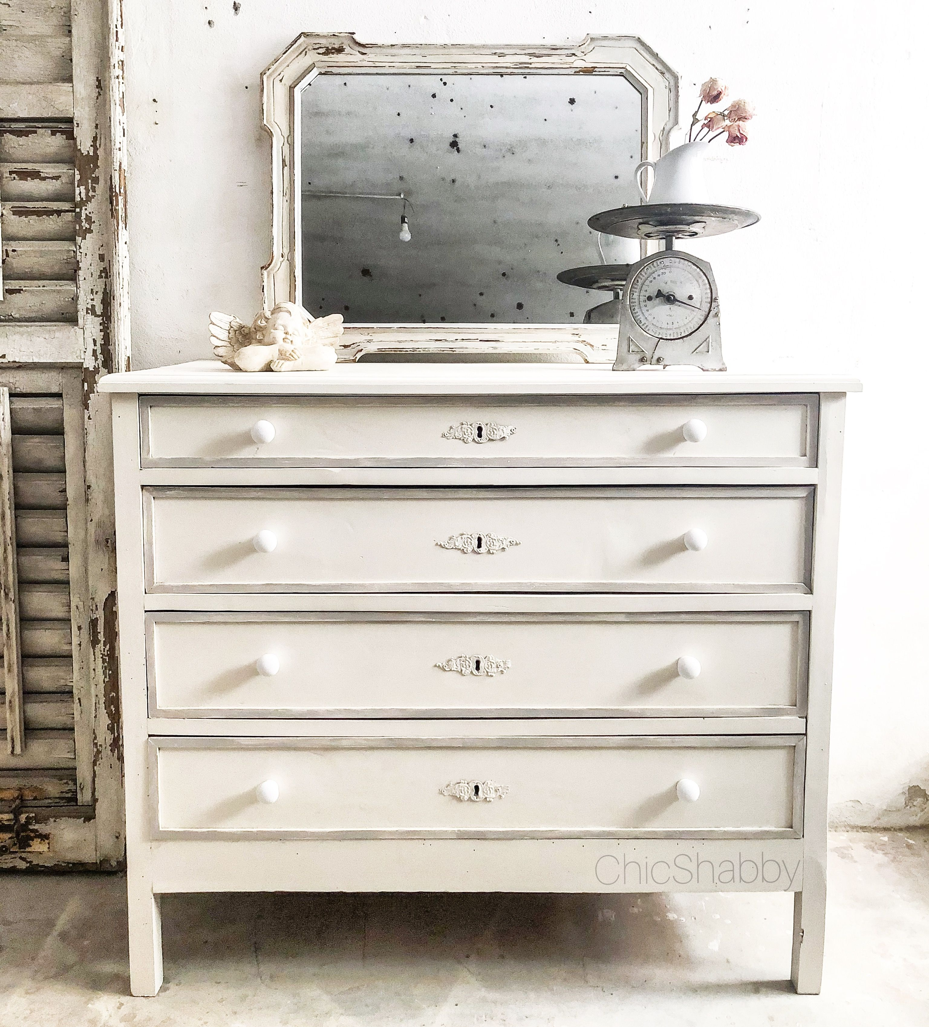 Cassettiera shabby chic antique Chest of drawers shabby chic | Le ...