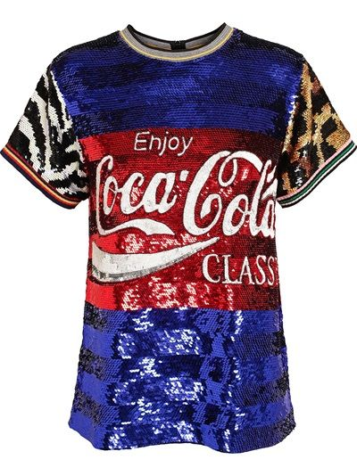 1eebad17341 Shop SS 14 ASHISH Coca Cola Classic Sequin Top from Farfetch