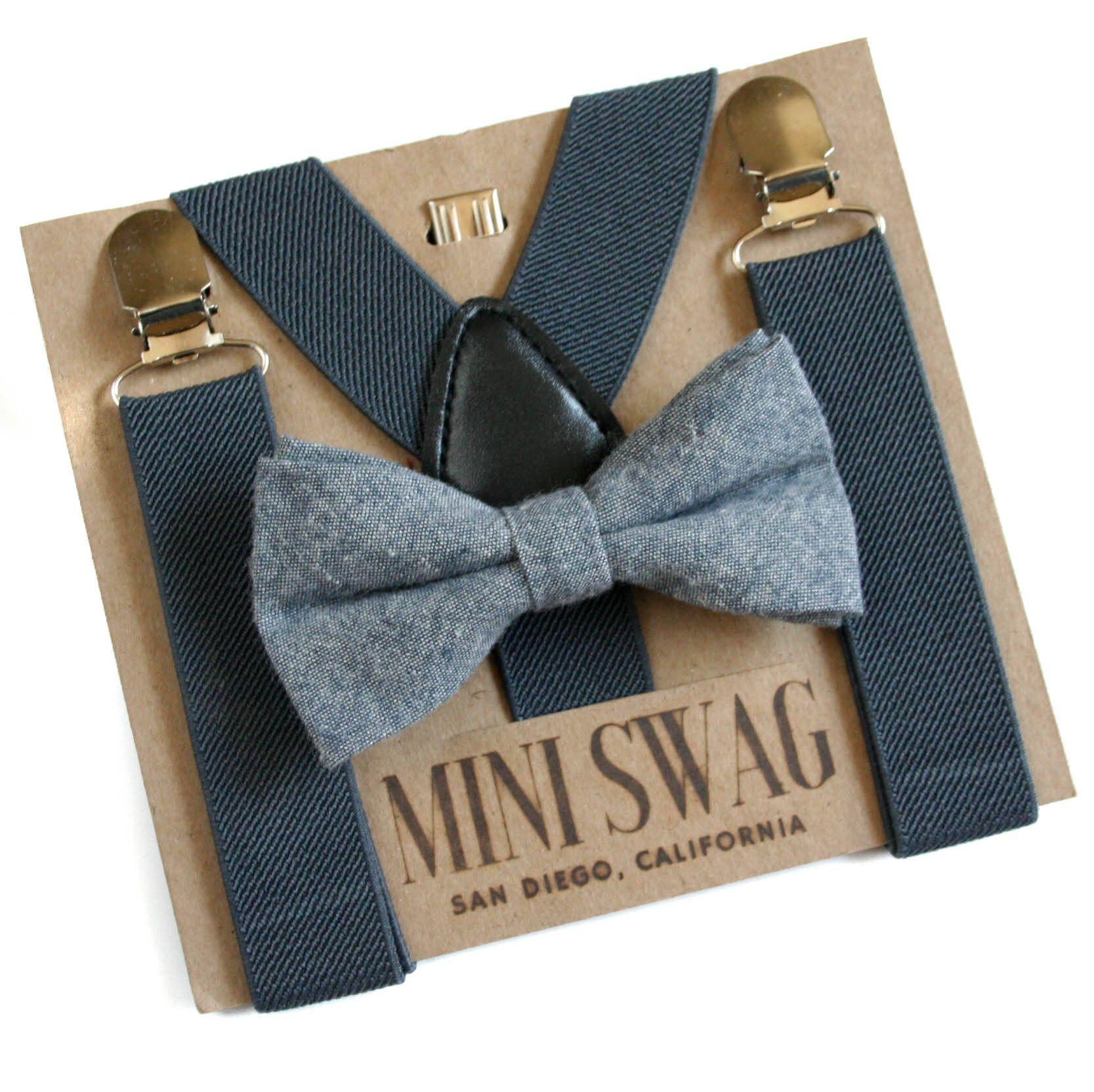 f336fb331f76 Dark Gray Suspenders and Gray Boys Bow Tie, Baby Boy 1st Birthday Outfit,  Mini Swag Textiles, Gray Baby Suspenders, Toddler Bow Tie Set, Boy Cake  Smash ...