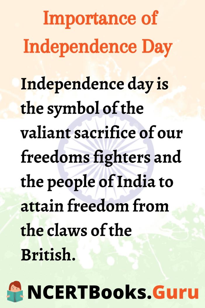 Independencedayessay Essayonindependenceday Ncertbooksguru Essay On Independence Day Importance Of National Movement