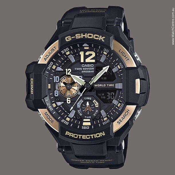 1bd7810cde6c G-Shock Men s Analog-Digital Gravitymaster Black Strap Watch 50x52mm  GA1100-9G Luxury