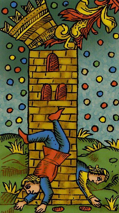 The Tower - Universal Tarot of Marseille (Claude Burdel)