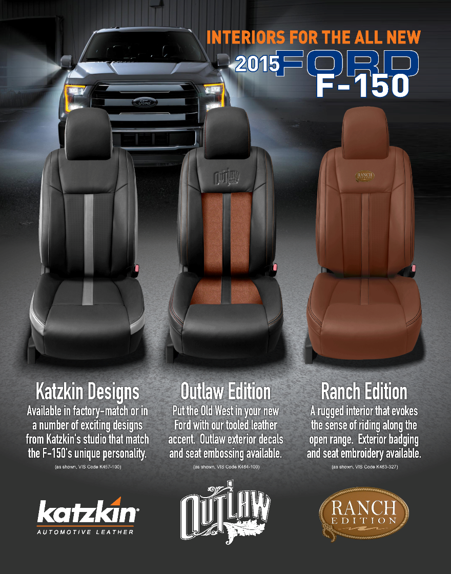 Custom Leather Interior Options For The New Ford F 150 Made By Katzkin Leather Interiors