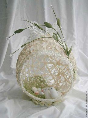 Bellas decoraciones con esferas de hilo