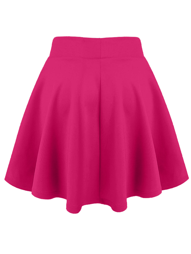 281aa5c85c89ad Simlu Womens Skater Skirt, A Line Flared Skirt Reg & Plus Size ...