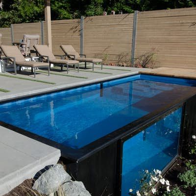 Shipping Container Pool Can Be Installed In Minutes Container Homes Pinterest Shipping