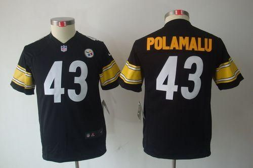 1954f831d Nike Steelers #43 Troy Polamalu Black Team Color Youth Embroidered NFL  Limited Jersey @Emillia Kelly