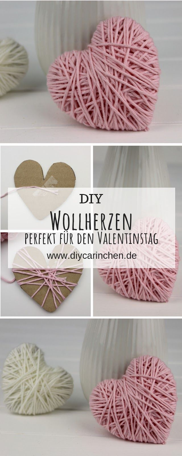 Photo of Make DIY wool hearts quickly and easily yourself – nice decoration