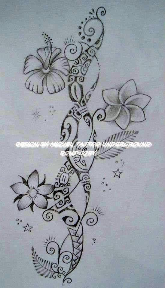 Dessin Pour Tatouage De Femme De Style Purement Polynésien