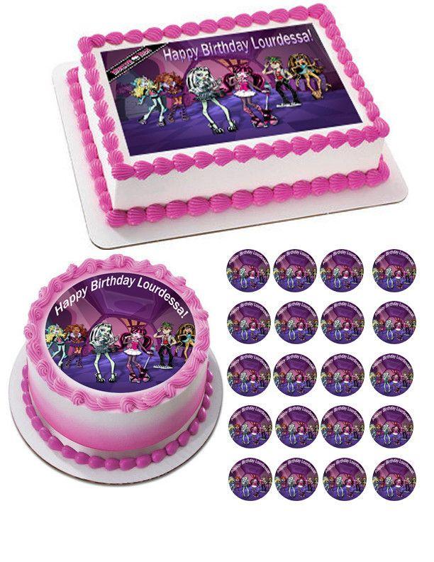 Groovy Monster High Edible Birthday Cake Topper Or Cupcake Topper Decor Personalised Birthday Cards Beptaeletsinfo