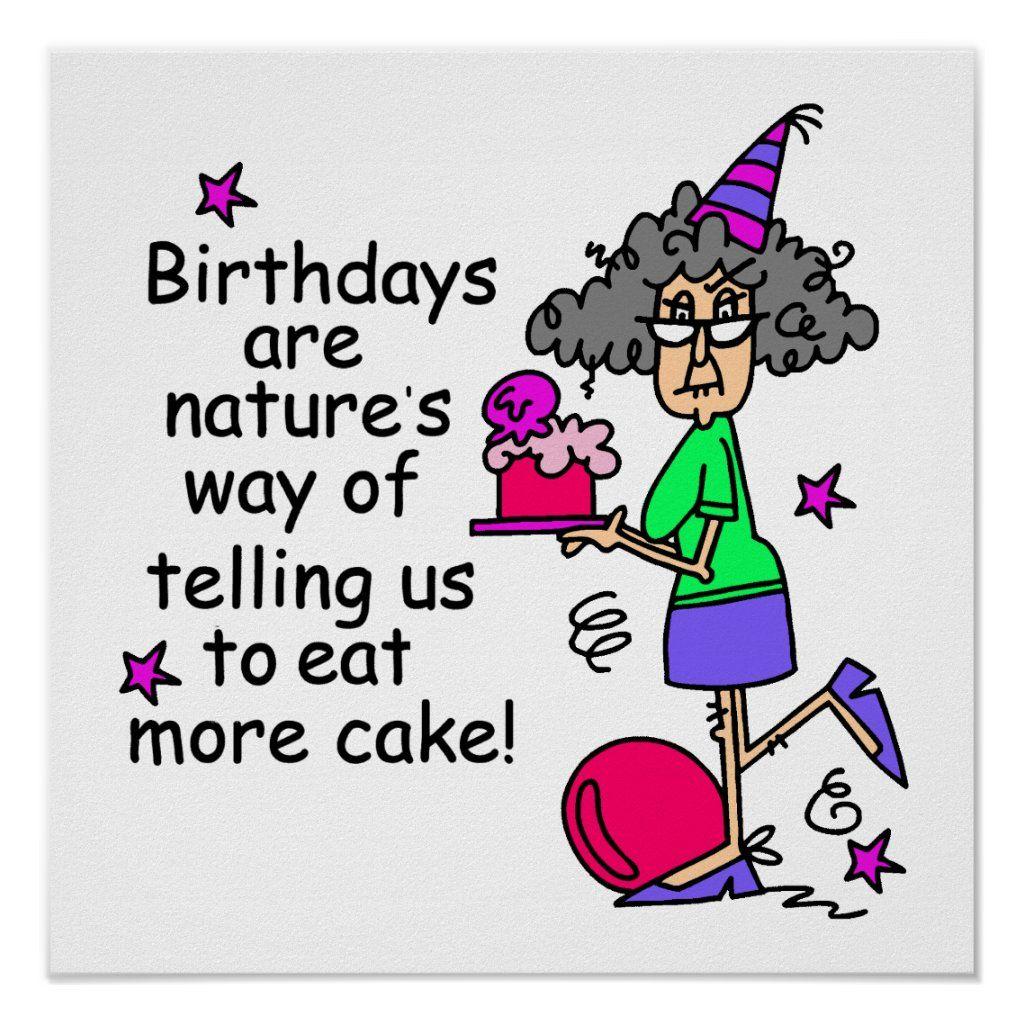 Eat More Cake Birthday Humor Poster Zazzle Com In 2021 Birthday Humor Happy Birthday Banners Runner Humor