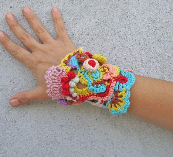 Jewelry / Bracelets Cuff Free form crochet Cuff bracelet by kovale