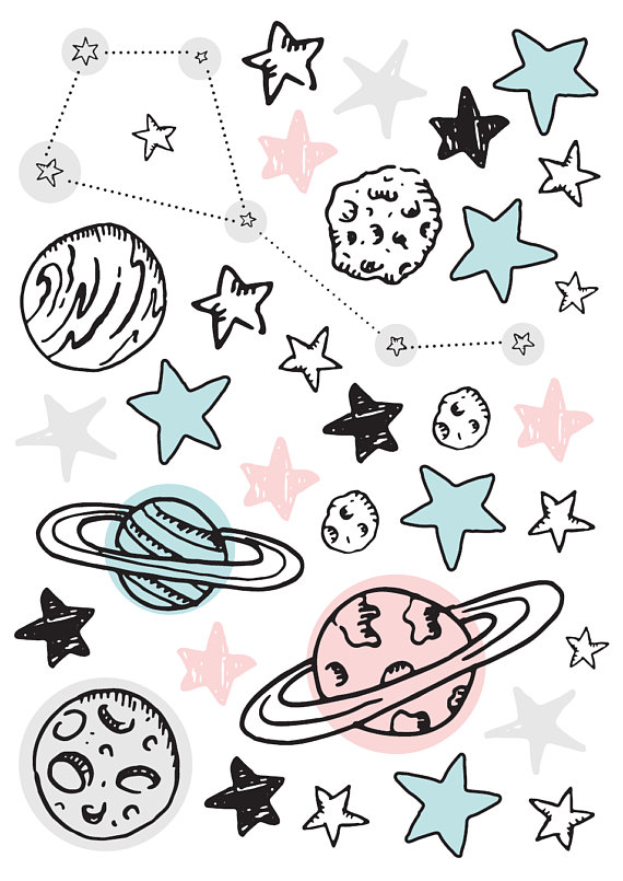 Stars Wall Decals, Bedroom Star Decals, Bedroom Stars, Kids Wall Stars Stickers, Removable Decals, P