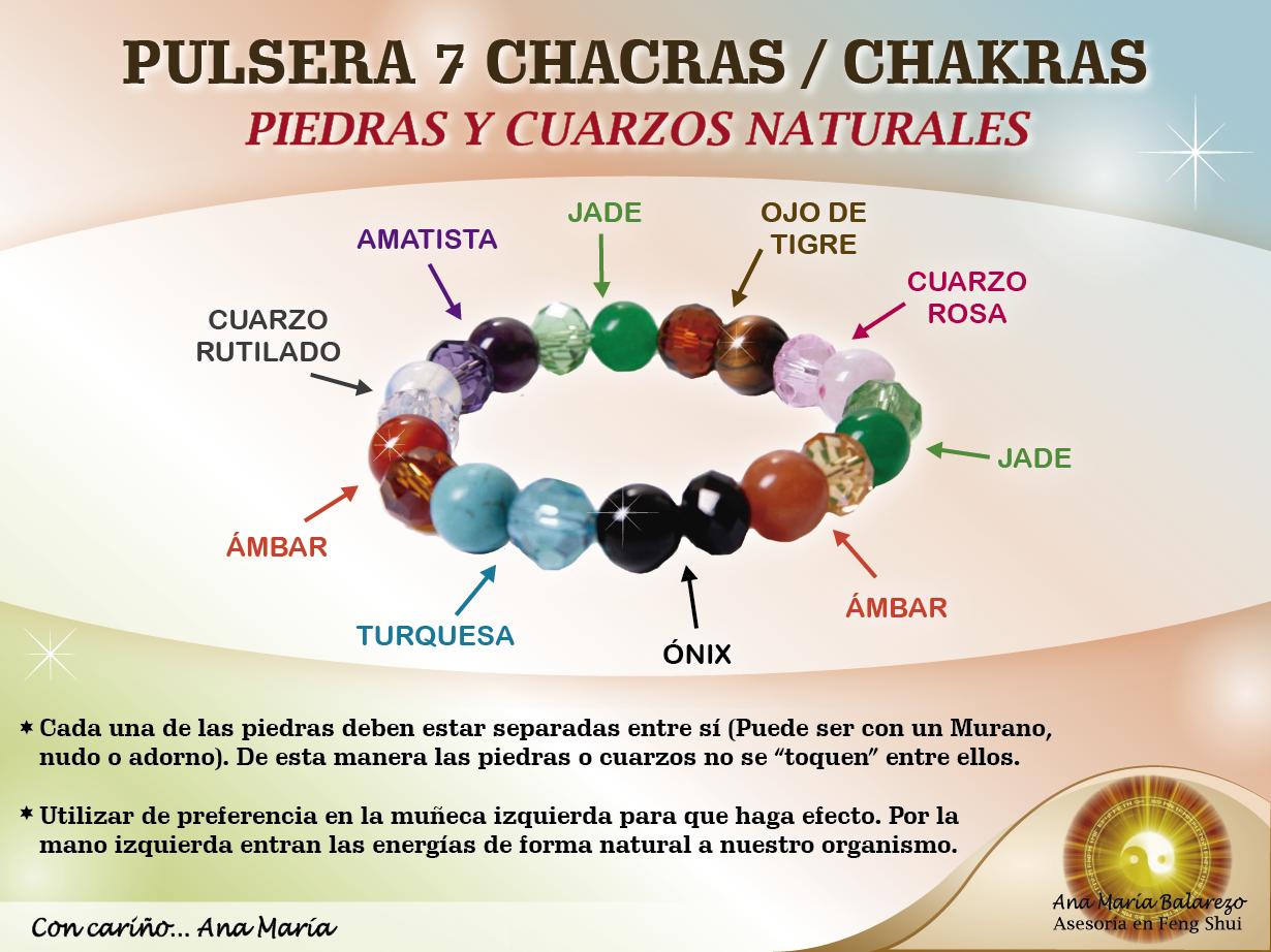 Pulsera de las 7 chacras chakras para equilibrar la - Feng shui para la salud ...