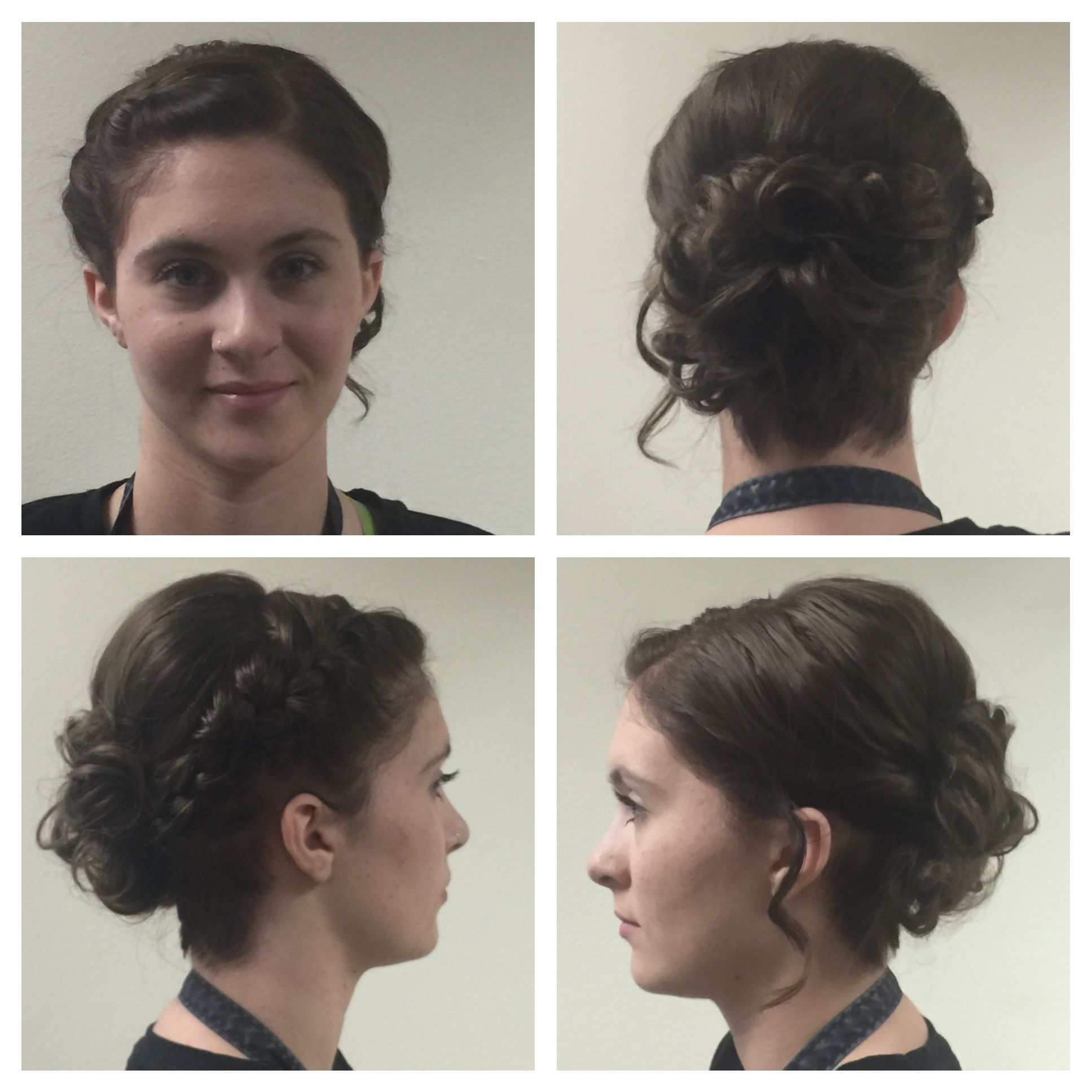 Updo with a braid my work pinterest updo