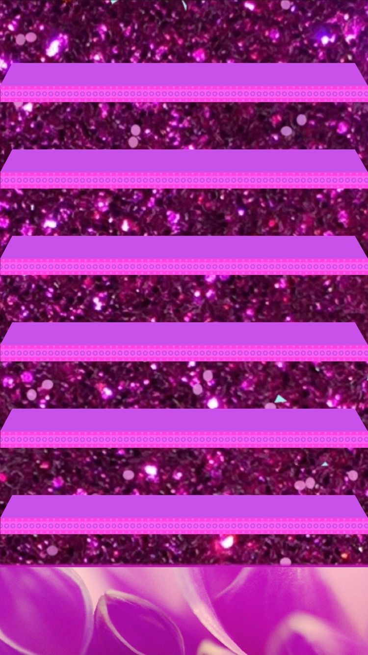 Glitter Iphone Shelf Wallpaper Pink Wallpaper Cellphone Wallpaper Wallpaper Iphone Cute