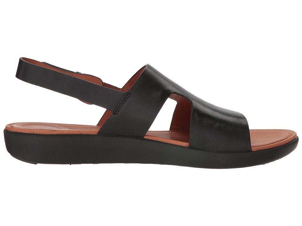 2a0caded7728 FitFlop H-Bar Back Strap Sandals Women s Sling Back Shoes Black ...