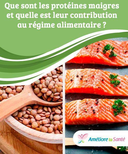 Les protéines maigres et leur contribution au régime